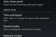 Quick Settings Customization Option