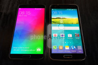 Samsung Galaxy F snapped beside the Galaxy S5 in latest leaked image