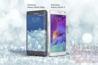 Leaked promotional image shows the Samsung Galaxy Note Edge with a curved screen