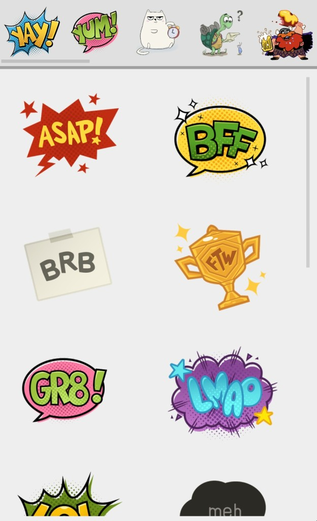 Stickers in Hangouts