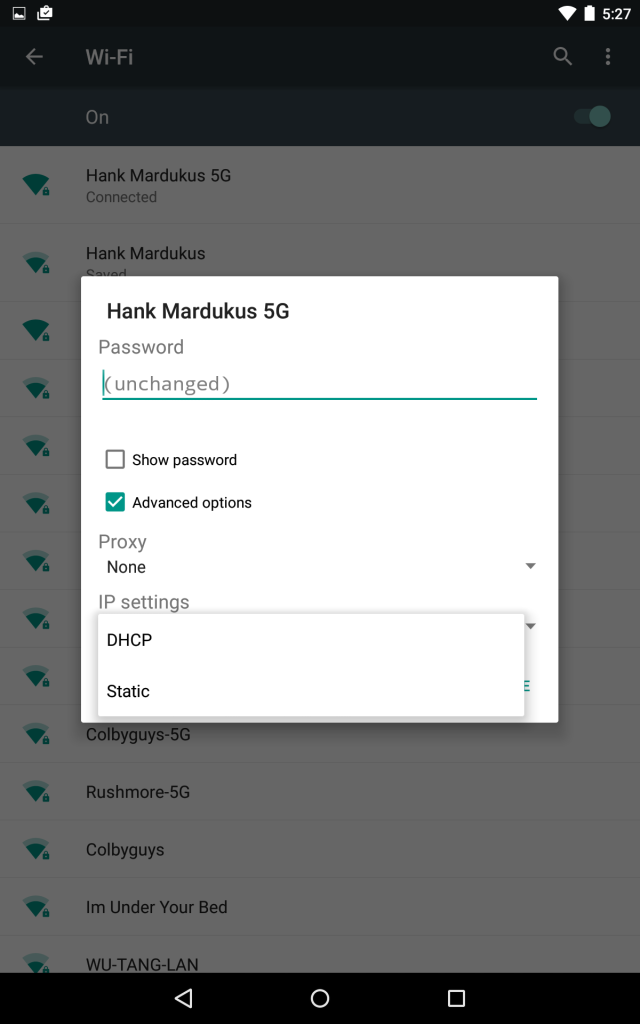 IP Settings - Android