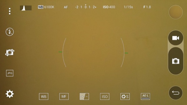 The 'Manual' interface in Camera is impressive and equivalent to DSLR levels of control....