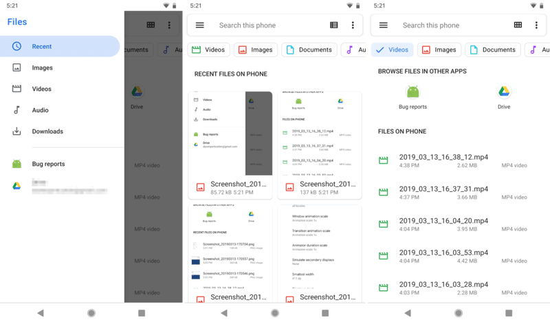 Android Q Files App