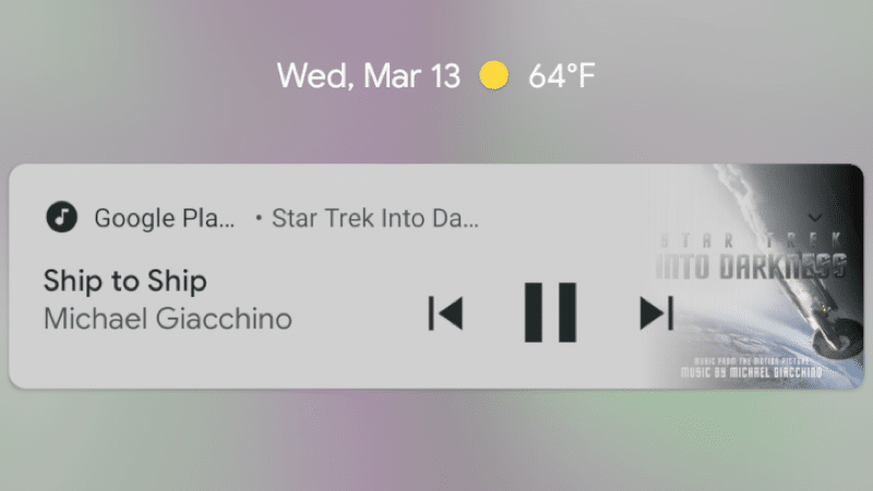 Android Q Now Playing Background Blur
