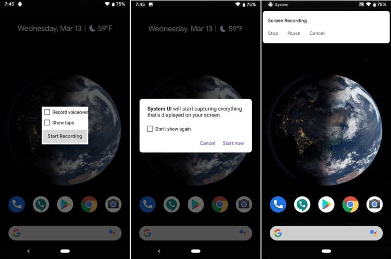 Android Q Screen Recorder