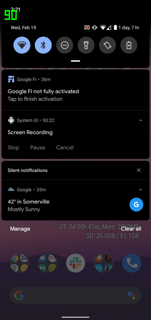 Android 11 Screen Record