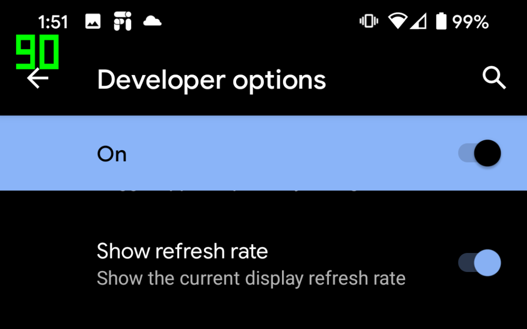 Android 11 Screen Refresh Rate