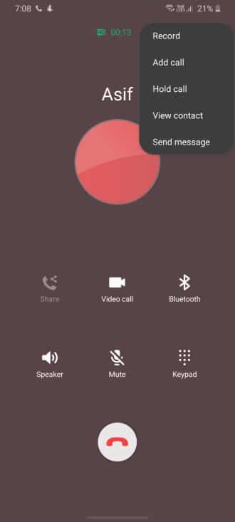 Record Voice Call On Samsung Galaxy S20 Plus Ultra - Step 03