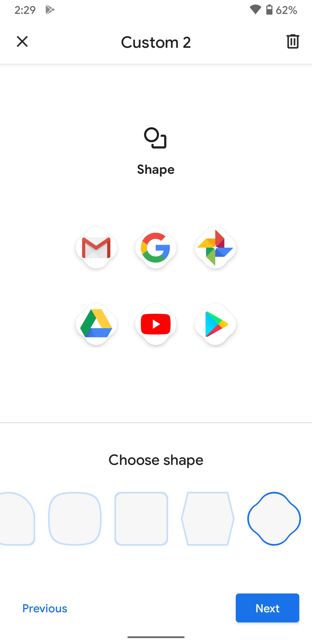 Android 11 Icon Shapes