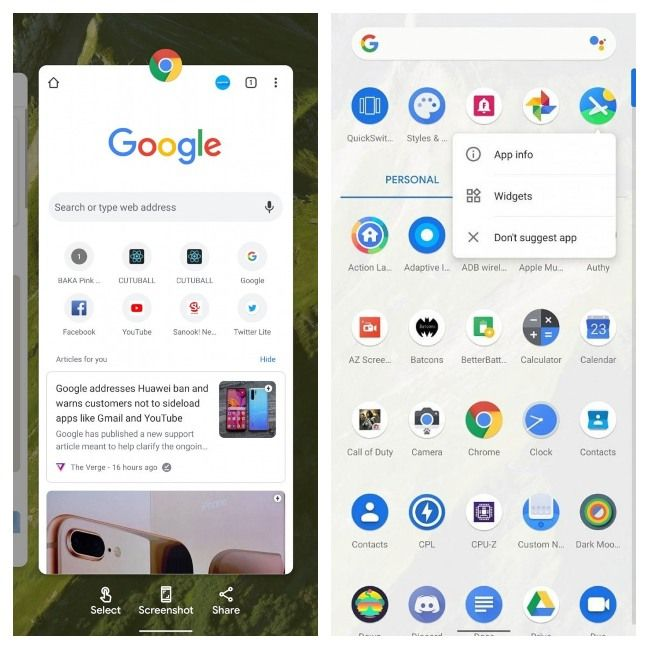 Android 11 Recent Apps